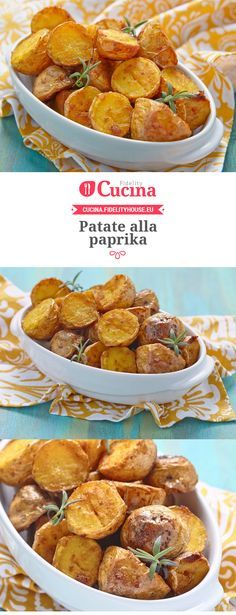 Le #patate alla #paprika sono un #contorno semplicissimo da preparare ma davvero delizioso, ottimo per accompagnare secondi di carne o di pesce.
