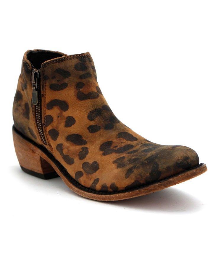 Liberty Black Double Zip Cheetah Bootie at Maverick Western Wear