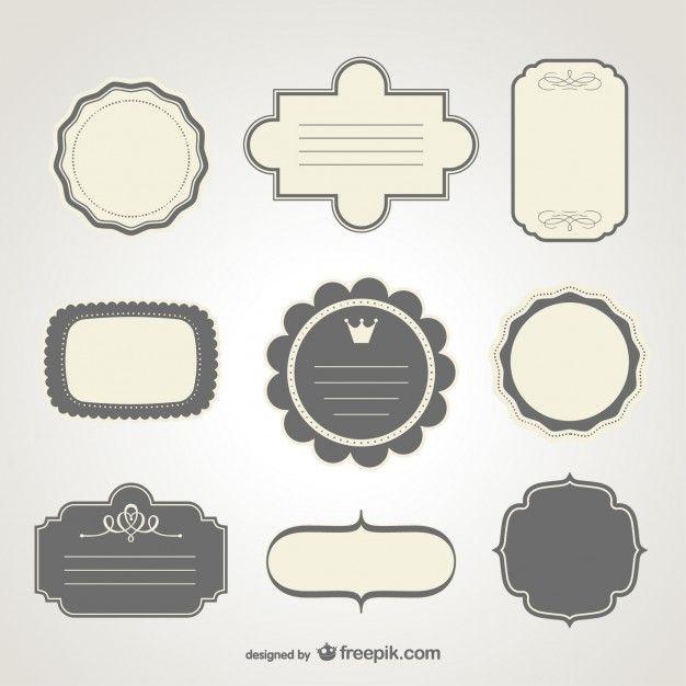 Diseño de etiquetas en formato vectorial