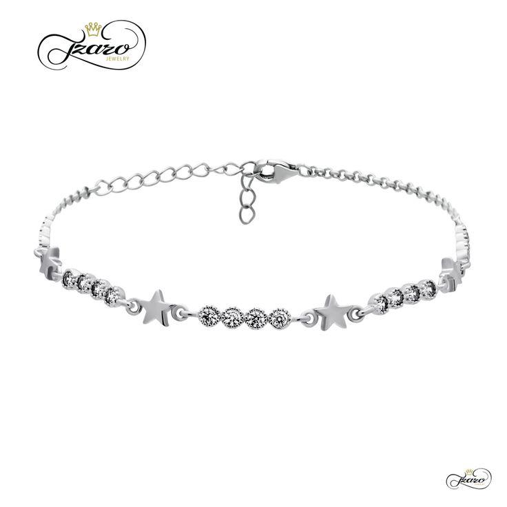 Dainty Star Bracelet with Cubic Zirconia