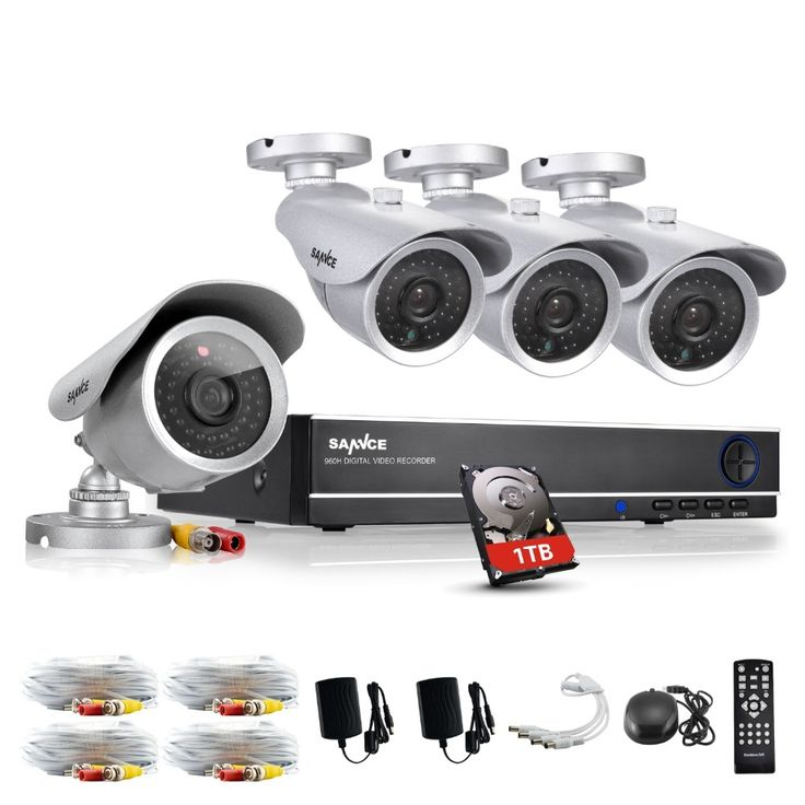 180.49$  Buy here - http://alim00.worldwells.pw/go.php?t=32656576311 - SANNCE HD 8CH CCTV HDMI DVR 4PCS 1200TVL Home Security Silver Bullet Camera Video Surveillance System Kit 1TB
