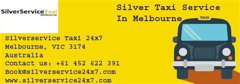 Silverservice24x7 provides Silver Taxi Service In Melbourne. We provides Inside or outside the city cab services. Book cab by Book@silverservice24x7.com  visit at: www.silverservice24x7.com call us at: +61 452 622 391