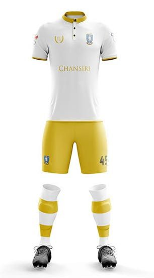 The Sheffield Wednesday 150th Anniversary kit introduces a smart design in white and gold.