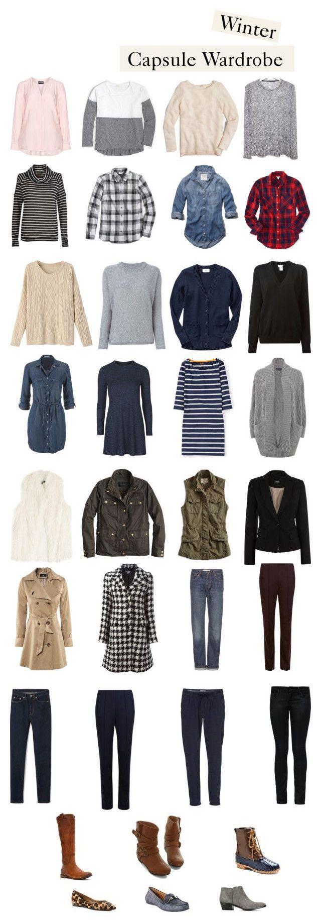 Winter Capsule 2016. How to Create a Capsule Wardrobe for Moms.                                                                                                                                                     More