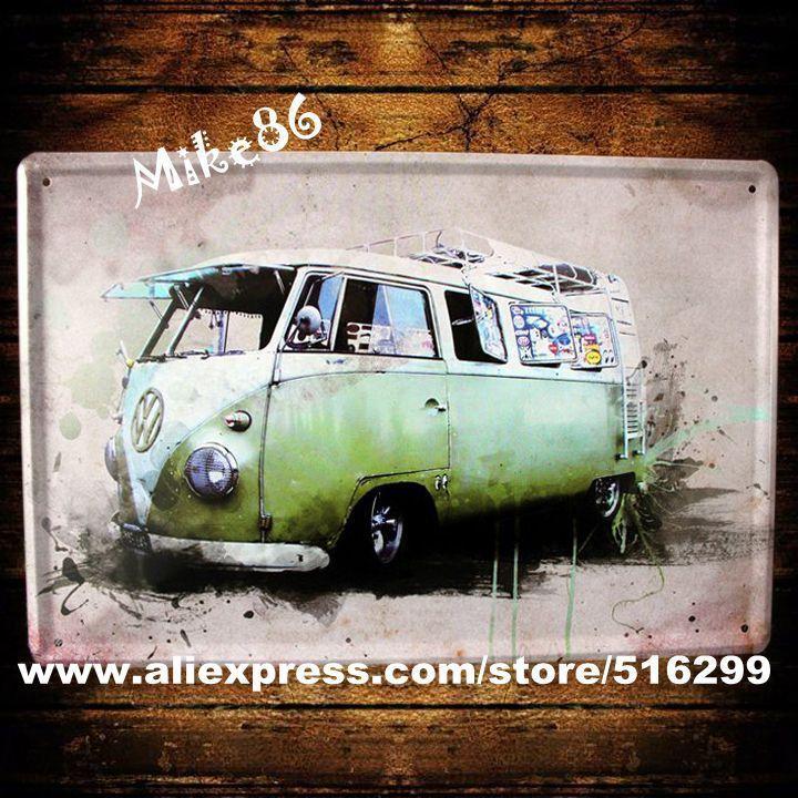Купить [ Mike86 ] зеленый VW Bus металл олово паб клуб стены доска живопись плакат дом декор A 661 заказ смешивания 20 * 30 сми другие товары категории Металлические ремеслав магазине Mike86 Tin Signs StoreнаAliExpress. декор стол