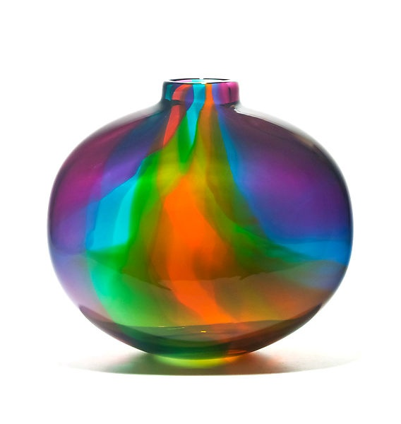 Art Glass Vase, Purple Ribbon Design, so beautiful, one of over 3,000 limited production interior design inspirations inc, furniture, lighting, mirrors, tabletop accents and gift ideas to enjoy pin and share at InStyle Decor Beverly Hills Hollywood Luxury Home Decor enjoy & happy pinning