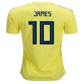 2018 World Cup Colombia  10(JAMES)Home Yellow Thailand Soccer Jersey AAA e6a656c7a