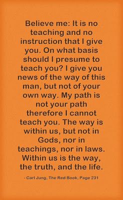 Believe me: It is no teaching and no instruction that I give you. On what basis should I presume to teach you? I give you news of the way of...
