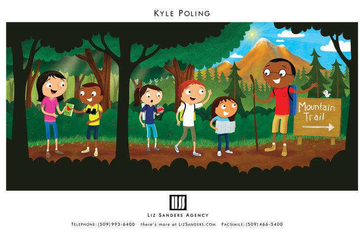 Nature Trail. Illustration by Kyle Poling, represented by Liz Sanders Agency. lizsanders.com