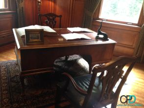 Canadian Club Whisky - History & Heritage :: Hiram Walkers Desk #CanadianClub #Whisky #Windsor #Walkerville #History #Heritage #Prohibition #CC #LocalTourism #Travel #Local #SightSeeing #Historic #HiramWalker #BrandCenter #BlogPost