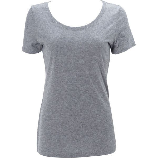 Simplex Apparel Triblend Womens Scoop Tee - XS - Heather Grey - Shirts ($19) ❤ liked on Polyvore featuring tops, t-shirts, shirts, grey, heather grey shirt, heather grey tee, heather gray t shirt, grey tee and scoop neck t shirt