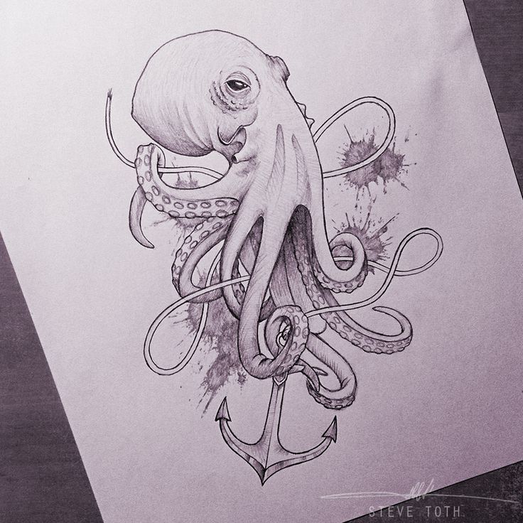 anchor drawing with octopus - Google Search