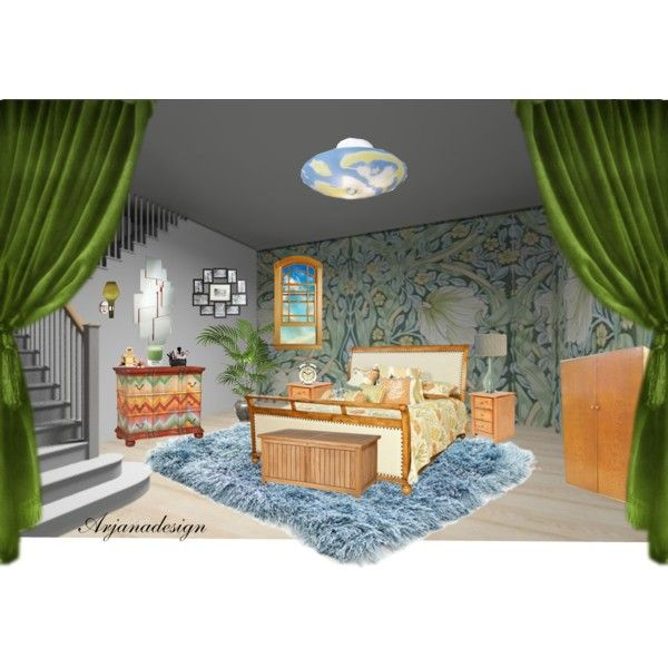 Basement Bedroom by arjanadesign on Polyvore