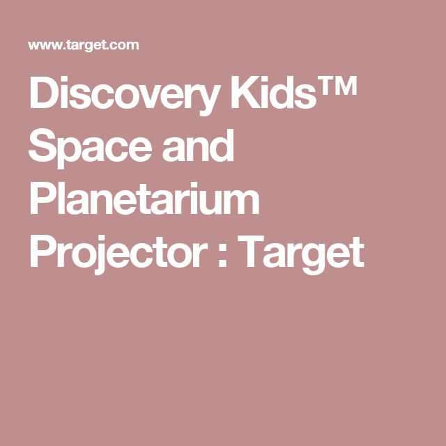 Discovery Kids™ Space and Planetarium Projector : Target