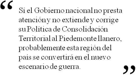 Piedemonte llanero: ¿El nuevo escenario de guerra en Colombia?. Publicado por El Espectador.com, el 2 de febrero de 2013.