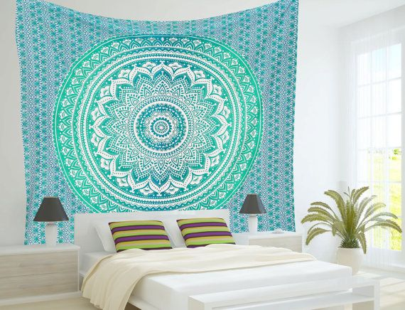 Ombre Mandala Tapestries, Hippie Wall Tapestries, Indian Tapestry Wall Hanging, Bohemian Boho Tapestries, Mandala tapestries, Beach Sheet