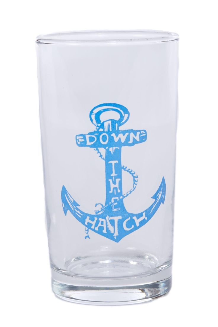 This cocktail glass is a great size for any type of drink. Enjoy your sips while relaxing by the water or on a boat! Dishwasher Safe. SIZE: 5 High x 2 7/8 Wide CAPACITY: 9 oz.   Down Hatch Glass Home & Gifts - Gifts - Gifts by Occasion - Entertaining & New Home Home & Gifts - Home Decor - Dining Home & Gifts - Gifts For... - Gifts for host / hostess Wisconsin