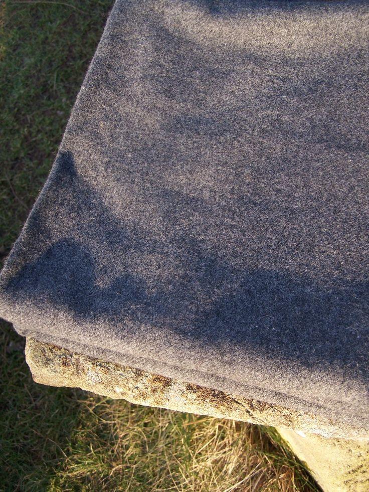Handwoven sheep wool cloth.