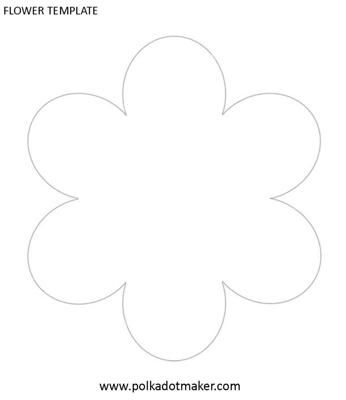 Flower Template: The flower template is another versatile pattern that can be used for many things: Make pretty flower placemats, invitations, cards, fairy wands, flower