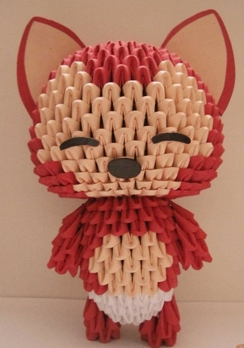 3D Origami - Raccoon http://handcraftpinterest.blogspot.com