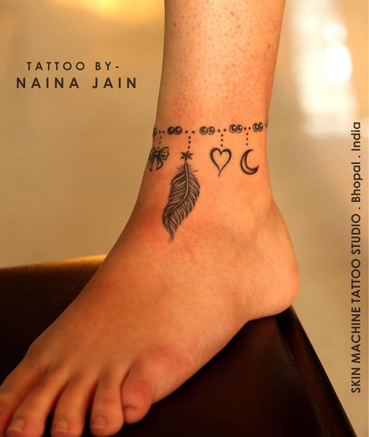 Freehand anklet tattoo by Naina Jain @nains_tattoos at SKIN MACHINE TATTOO STUDIO. Bhopal. India   Thanks for looking   Email for appointments- skinmachineteam@gmail.com  Contact link in bio   #art #anklet #anklettattoo #tattooed #tattooedgirls #inked #inkedgirls #tattoos #legtattoos #followme
