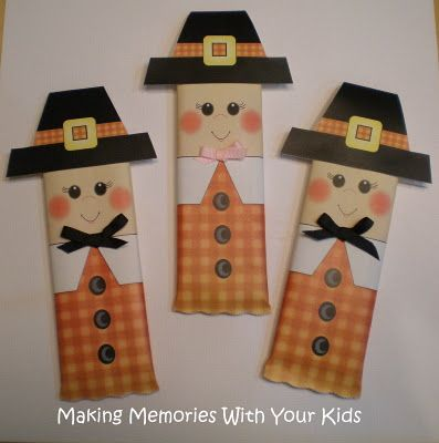Making Memories ... One Fun Thing After Another: Thanksgiving Pilgrim Candy Bar Wrapper {Free Printable}: