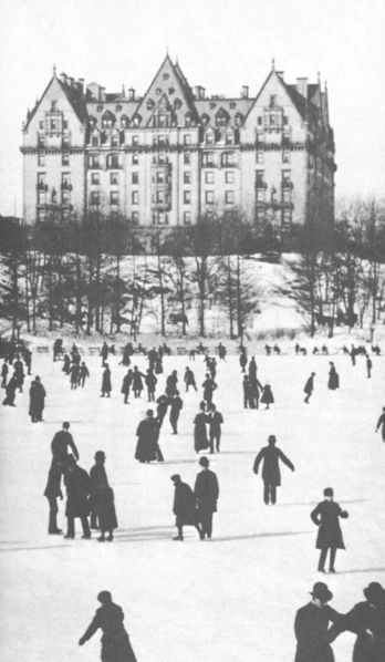 Central Park in the 1880's after the building of the Dakota New York Architecture Images-