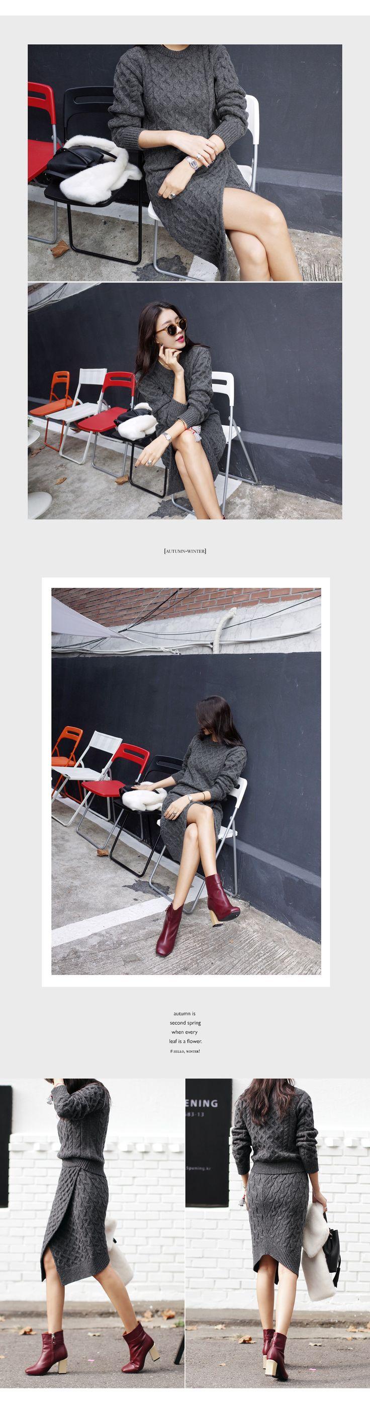 ケーブルニットラップミディスカート・全3色スカートスカート|レディースファッション通販 DHOLICディーホリック [ファストファッション 水着 ワンピース]