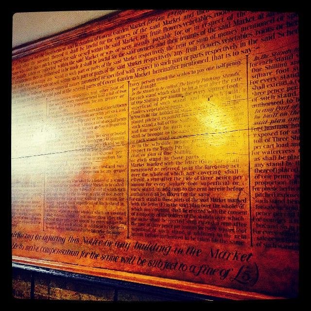 Check out the #historical #CoventGarden #market rules dated 1829 for so long #beautiful #sign writing Get the #Kooky #London #App #ig_London #igLondon #London_only #UK #England #English #British #iPhone #quirky #odd #weird #photoftheday #photography #picoftheday #igerslondon #lovelondon #timeoutlond on #instalondon #londonslovinit #mylondon #Padgram