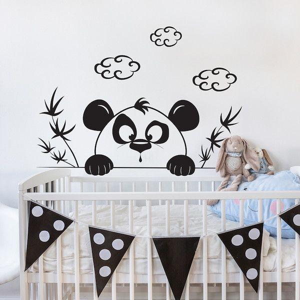 Kinderzimmerdekoration - Exklusive Wandtattoo Kinderzimmer | Panda Dixi - ein Designerstück von taia-s bei DaWanda