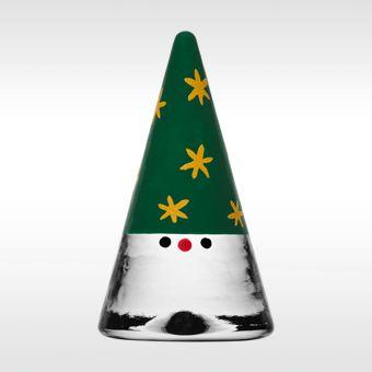 Kosta Boda Noel Santa groen-goud 2012 door Anna Ehrner