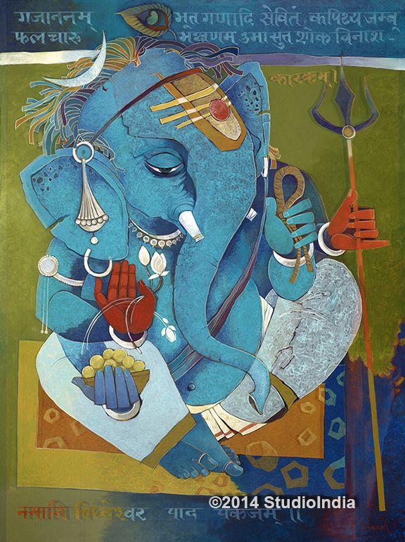 StudioIndia.org  Modern Ganesh Paintings