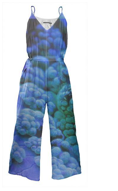 NEON SEA Tie Waist Jumpsuit By Anja Popp $178.00
