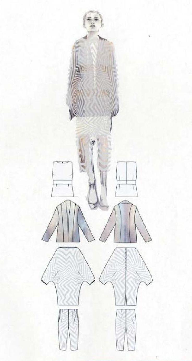 Fashion Sketchbook - fashion design drawings, graduate fashion portfolio // Sian Thomas