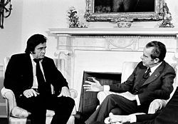 Johnny Cash advocated prison reform at his July 1972 meeting with United States President Richard Nixon.