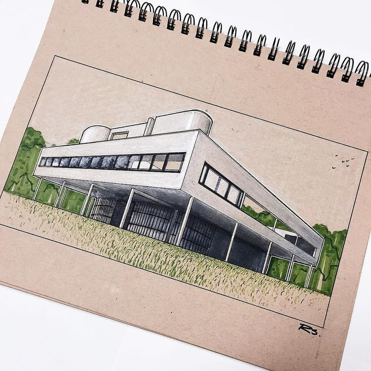 "Le Corbusier's 1931 Villa Savoye. A clear embodiment of Corbusier's ""five points…"