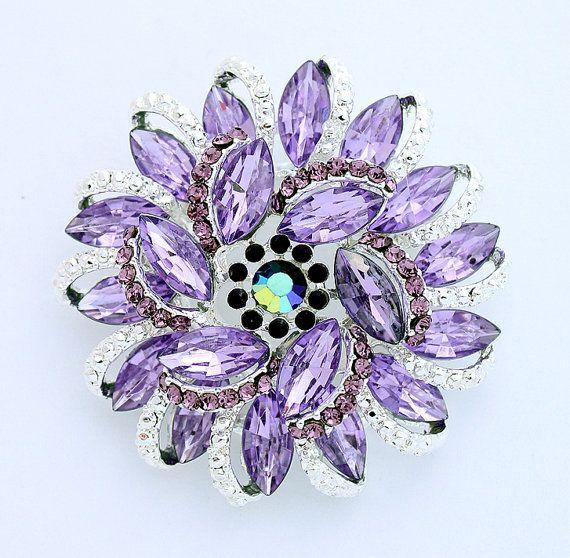 Lavender Purple Brooch Wedding Bouquet Light Purple by Crystalitzy