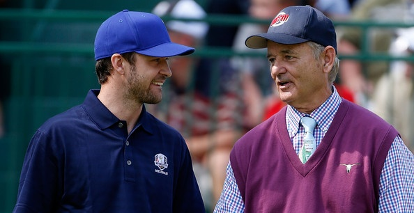 Justin Timberlake and Bill Murray at the 2012 Ryder Cup