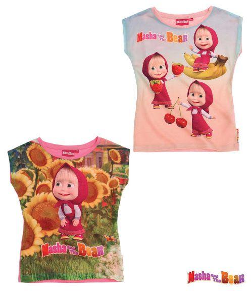 Fetitele care o indragesc pe Masha vor fi incantate de acest tricou vesel!  material imprimat cu model in partea din fata; decolteu rotund, usor elastic, pentru o imbracare facila; partea din spate a tricoului este de culoare roz deschis; material de calitate, subtire de vara, cu continut ridicat de bumbac 65% si polyester 35%; articol produs cu licenta Masha and the Bear.
