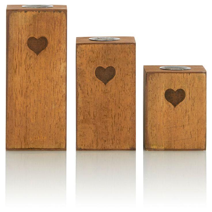George Home Set Of Three Wooden Tea Light Blocks | Gift Sets | ASDA direct