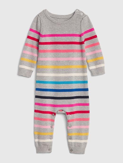 663cf17d92d Gap Baby Crazy Stripe Sweater One-Piece Multi Stripe Grey