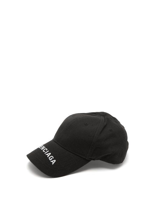 5fdd5b72f90 BALENCIAGA Logo-embroidered cotton cap.  balenciaga