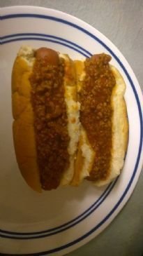 Carrie's Famous Reduced Fat Hot Dog Chili  Recipe