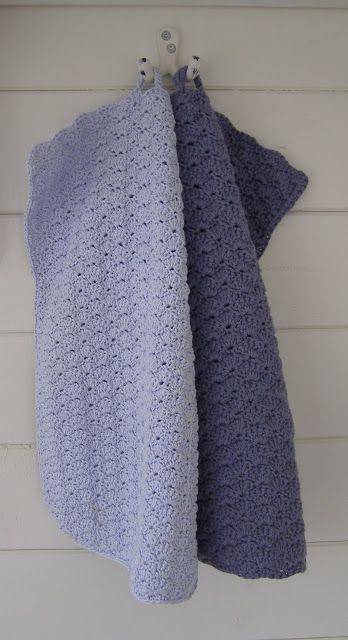 Halager: DIY - Hæklede håndklæder i kvadrater, muslinger og zig zag