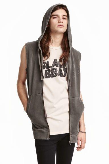 Tepláková vesta skapucňou | H&M