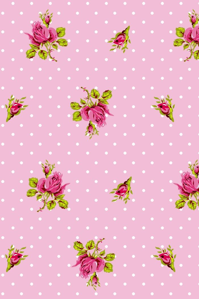 PiP Roses and Dots Pink wallpaper