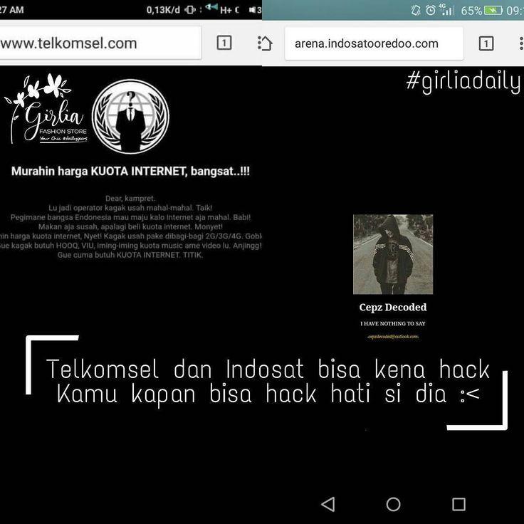 Mumpung malam minggu sanggupkah kamu hack hati dia untuk jadi milikmu?  #girliadaily #telkomselhack #indosathack