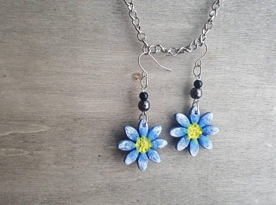 Hey, I found this really awesome Etsy listing at https://www.etsy.com/listing/580428126/handmade-blue-flower-earrings-silver