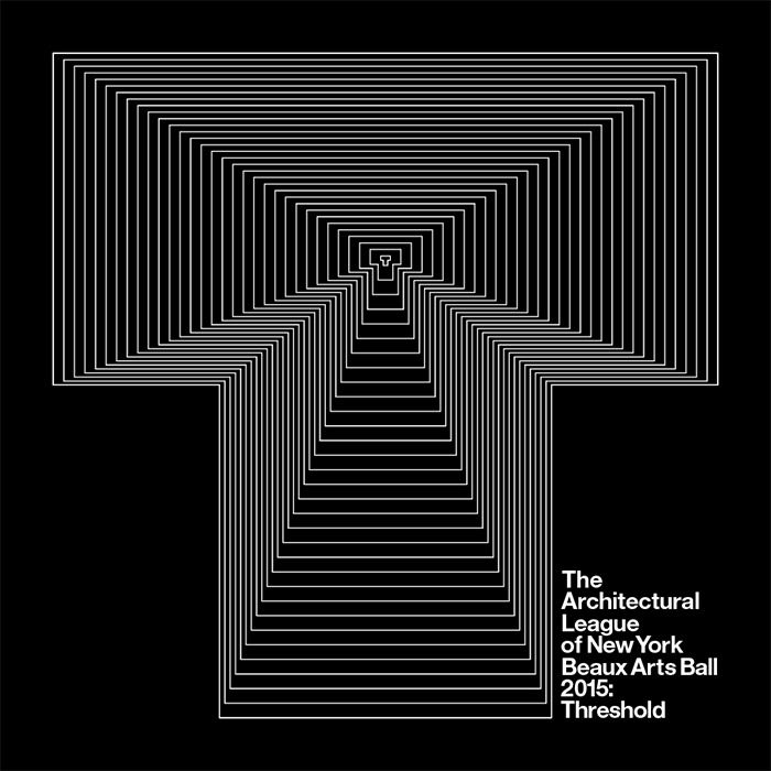NYC Beaux Arts Ball 2015: Threshold graphic by Pentagram