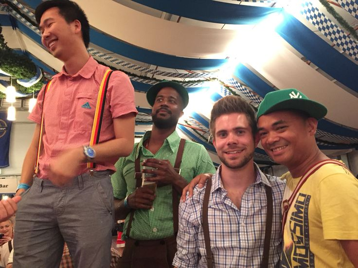 Lukas, Lamar, Christopher and I at Oktoberfest Brisbane, 2015 at showground